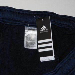 New Adidas navy blue athletic track pant